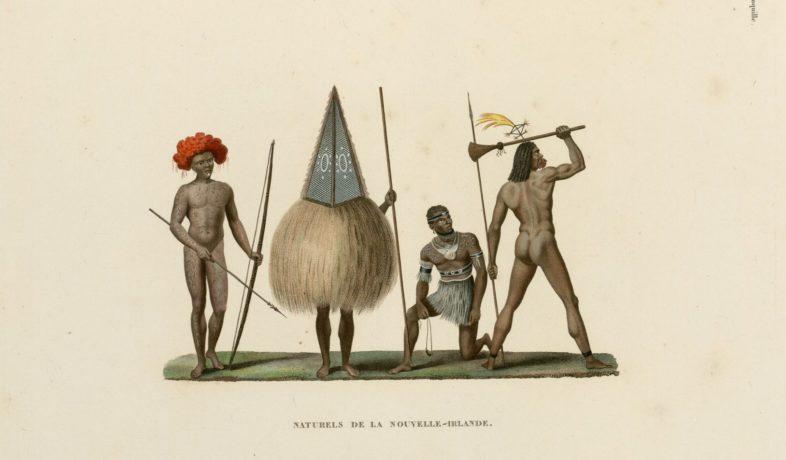 """Illustration tirée de """"Voyage autour du monde exécuté par ordre du Roi"""", collections du muséum de Toulouse"""