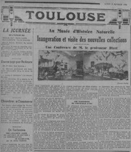 Article de L'Express du Midi, photo. Augustin Pujol, Bibliothèque Municipale de Toulouse
