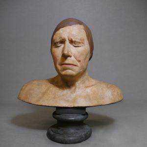 Moulage de buste en plâtre peint, collections du muséum de Toulouse