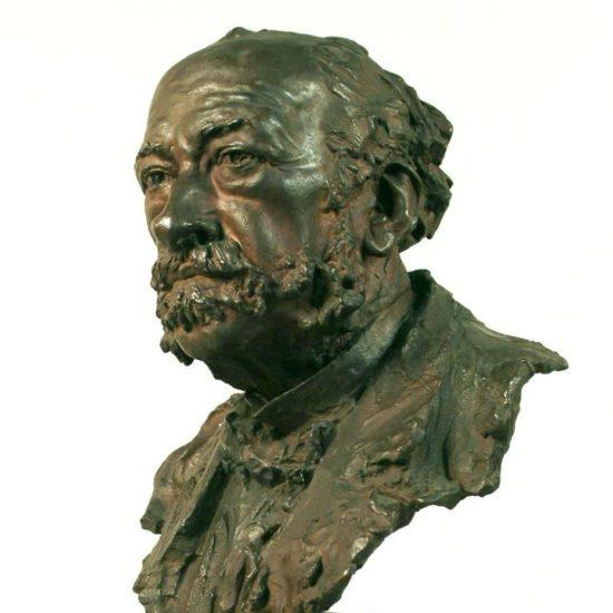 Buste, bronze et marbre, V. Ségoffin, fonderie Andro, collections du muséum de Toulouse