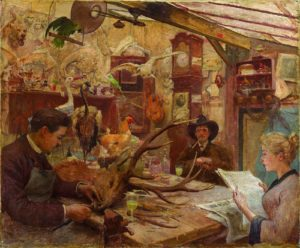 Philippe Lacomme, Victor et Pauline Bonhenry, tableau 55x46 cm