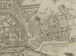 Carte de Toulouse et ses faubourgs, auteur : Chalmandrier, Nicolas (17..-178.) graveur, cartographe - Éditeur : Lattré (Paris)