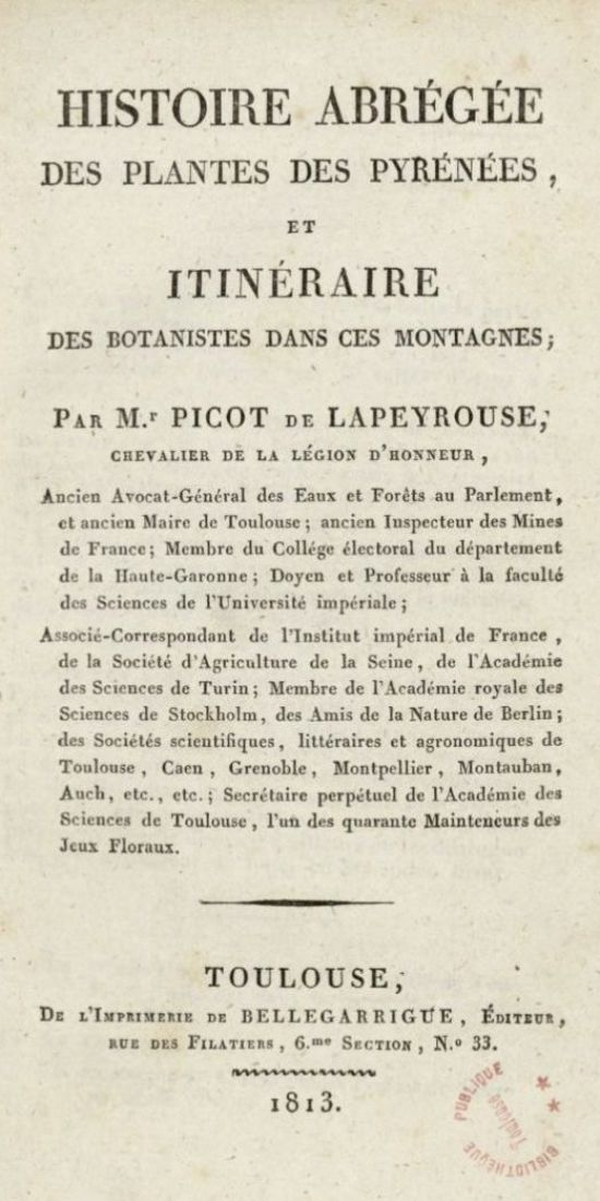Page issue de l'Histoire abrégée des plantes de Picot, Bibliothèque municipale de Toulouse