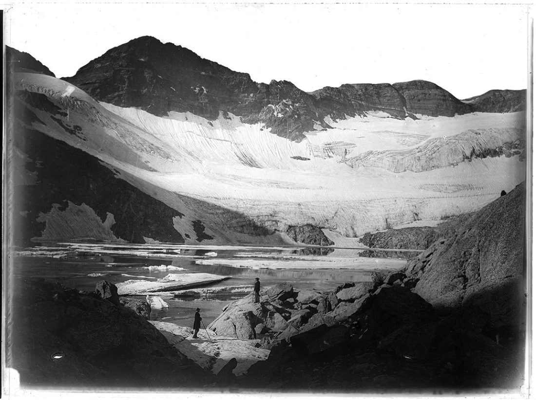Photographie du lac du Portillon, Oô, Eugène Trutat, collections du muséum de Toulouse