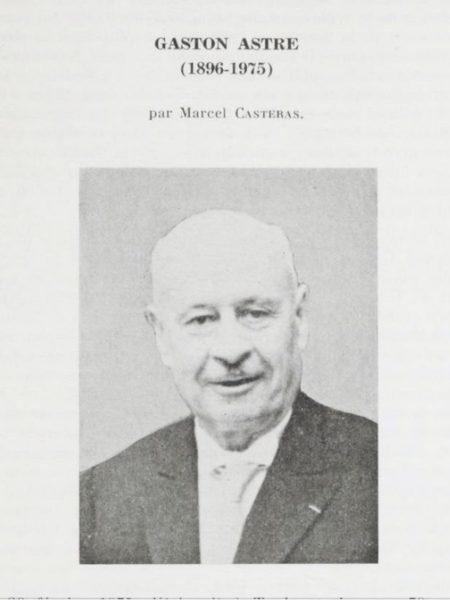 Gaston Astre, Bulletin de la Société d'Histoire Naturelle de Toulouse - source : Gallica, BNF