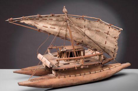 Maquette en fibres végétales, bois et poils de roussette, collections du muséum de Toulouse