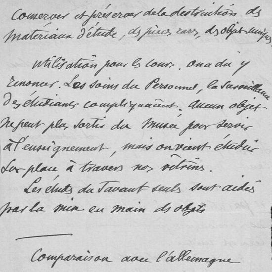 Notes de Cartailhac, archives du muséum