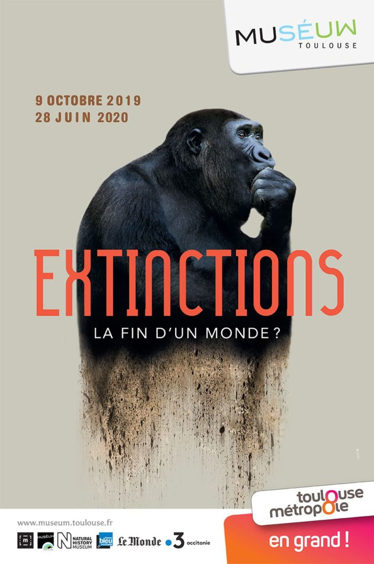Affiche de l'exposition Extinction