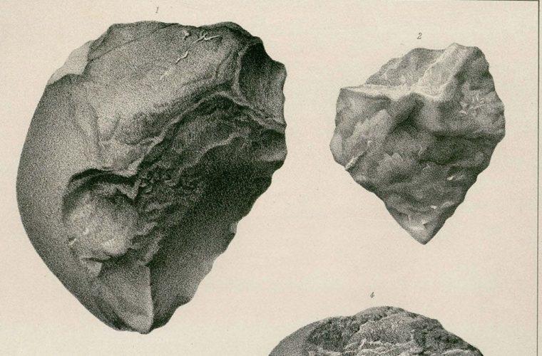 Gravure représentant des quartzites, collections du muséum de Toulouse