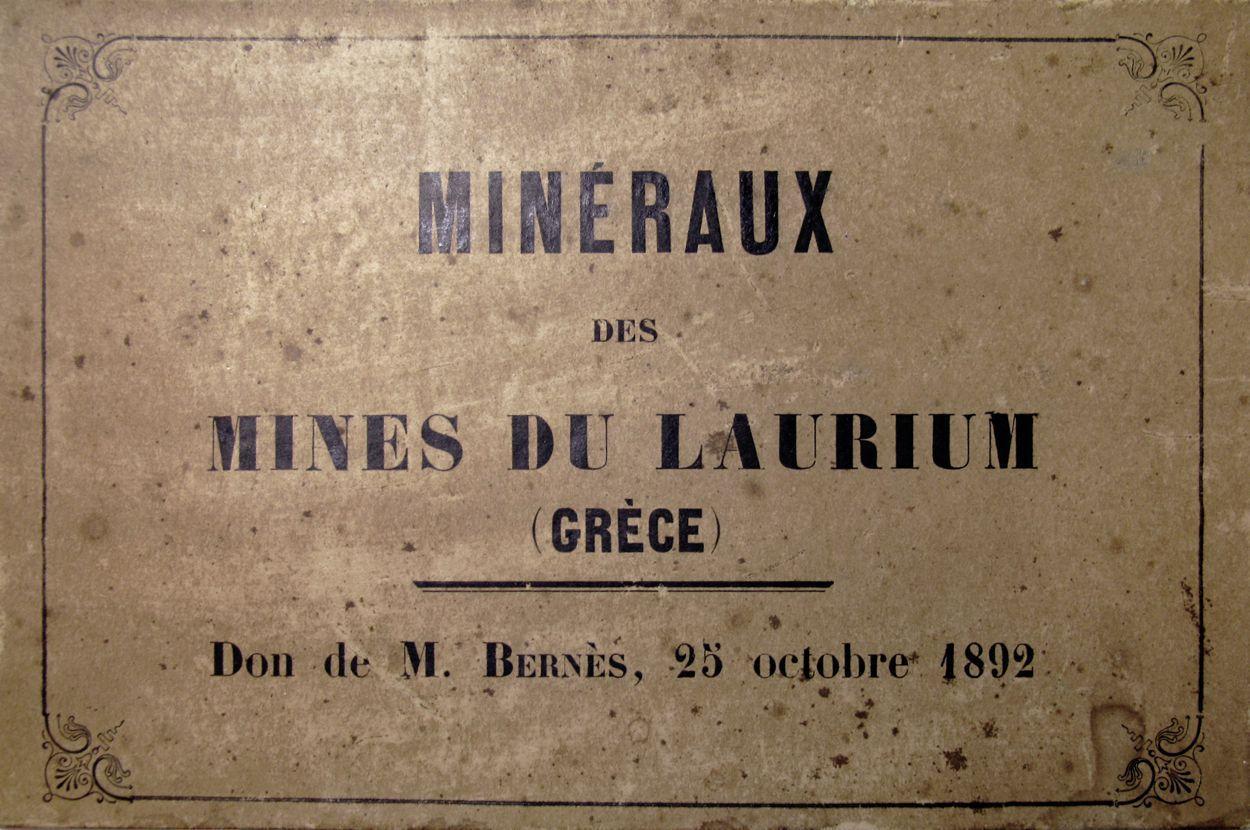 Cartel de la collection Bernès, collections du muséum de Toulouse