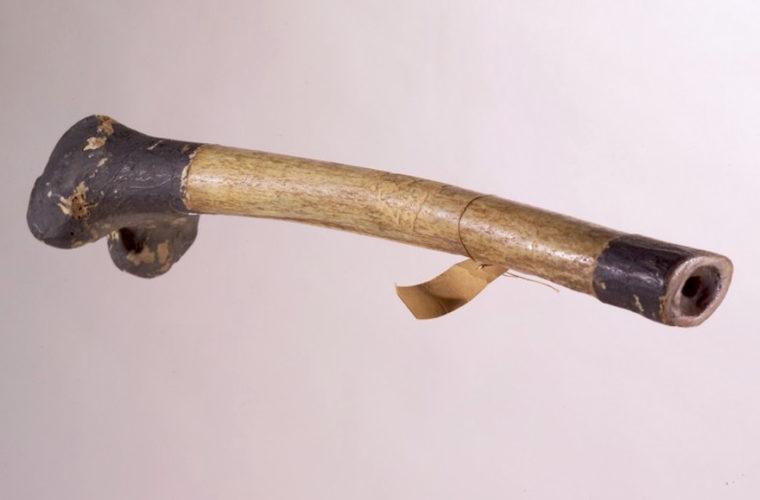 Trompe (rkang-gling) tibétaine, collections du muséum de Toulouse