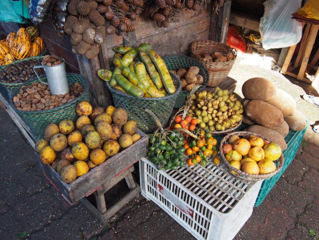 Étal de marché au Brésil