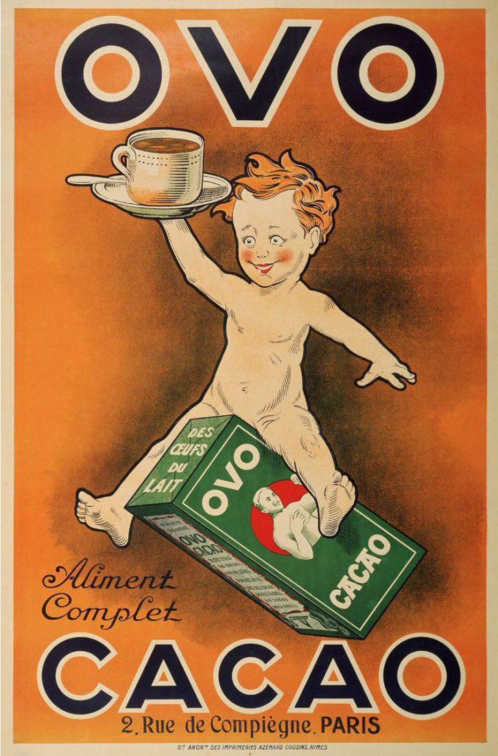 Affiche Ovo cacao, collections du Musée de l'affiche de Toulouse
