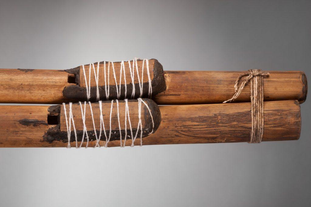 Flûte urua (détail), collections du muséum de Toulouse