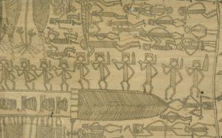 Bambou gravé kanak, collections du muséum de Toulouse